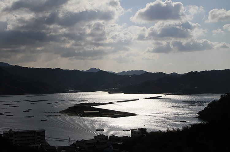 福良港の風景